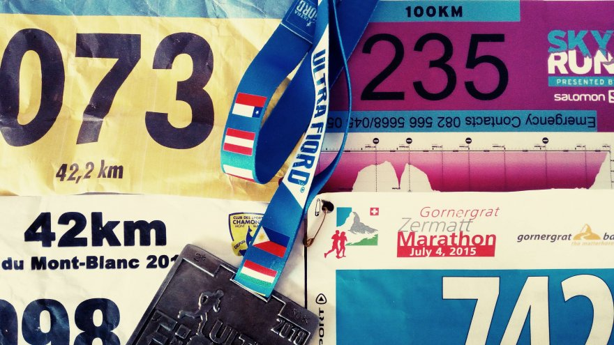 Race bibs of tough global trail races