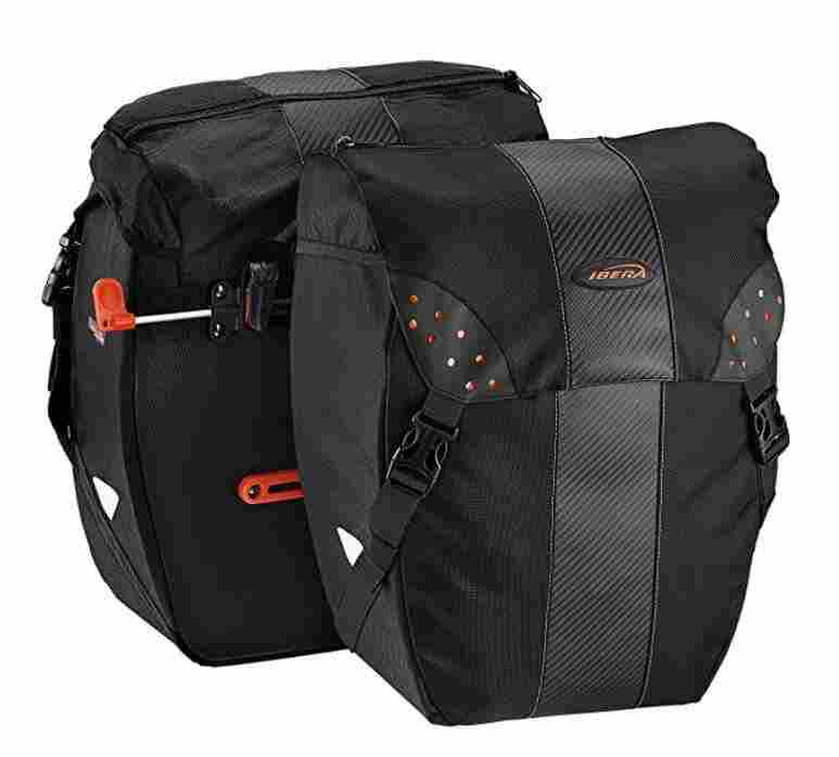 Ibera PakRak Clip-On Quick-Release Bike Panniers