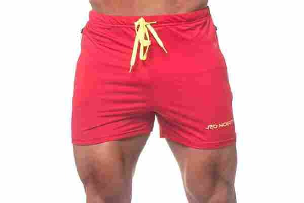 The best weightlifting shorts like these from Jed North should be tight, shorter in length and have ample stretch.