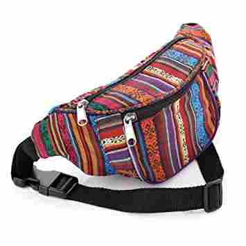 11. Multi Coloured Tribal Print Bum Bag / Fanny Pack