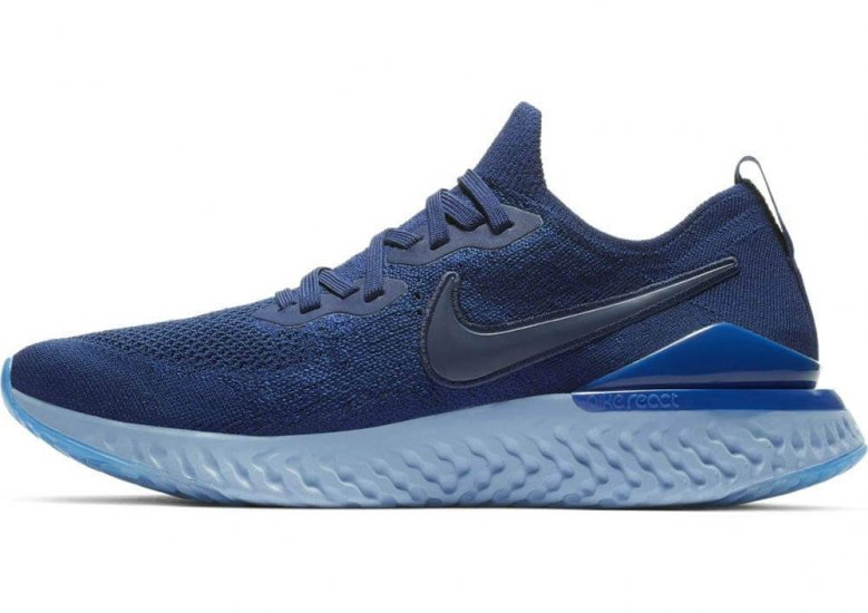 The biggest update to the Nike Epic React Flyknit 2 is a pared down heel counter and stitched-on swoosh logos.