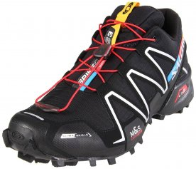The Salomon Spikecross 3 is a tough-looking sneaker with both breathable and water-resistant features in its upper.