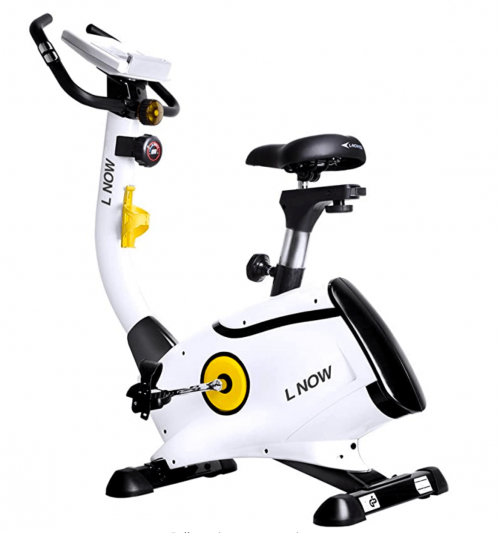 L NOW pooboo Upright Bike Magnetic Resistance Exercise Bike