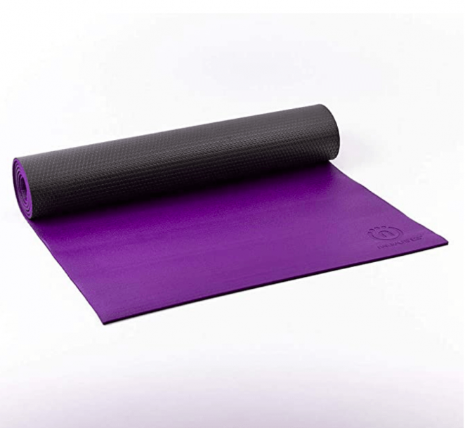 Natural Fitness Premium Warrior Yoga Mat Made from Polymer Environmental Resin with No Harmful Phthalates or Heavy Metals