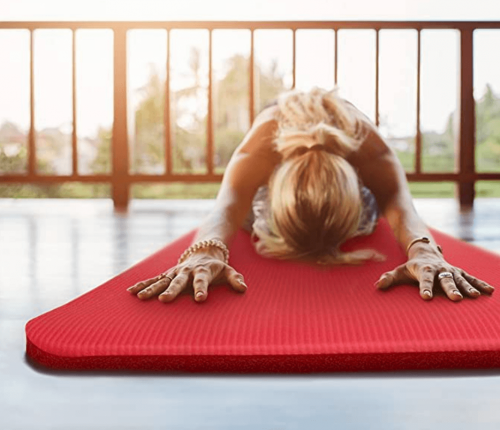 """Crown Sporting Goods Yoga Cloud Ultra-Thick 1"""" Yoga and Exercise Mat on Display"""