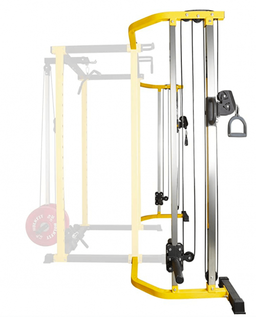 HulkFit 1000-Pound Capacity Multi-Function Adjustable Power Cage with J-Hooks and Dip Bars 3