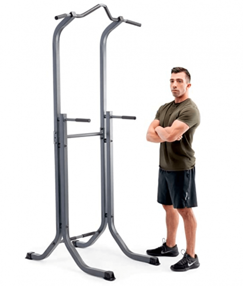 Marcy Power Tower Multi-Functional Home Gym Pull Up Chin Up Push up Dip Station for Strength Training TC-5580
