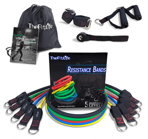 TheFitLife Exercise Resistance Bands with Handles 2