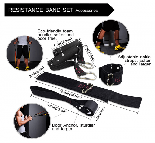 TheFitLife Exercise Resistance Bands with Handles 3