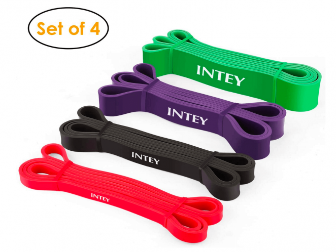 INTEY Pull up Assist Band Exercise Resistance Bands for Workout Body Stretch Powerlifting Set