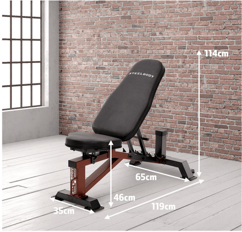 Steelbody Deluxe 6 Position Utility Weight Bench detail 2