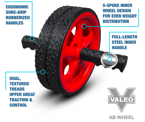 Val Exercise and Fitness Wheel with Easy Grip