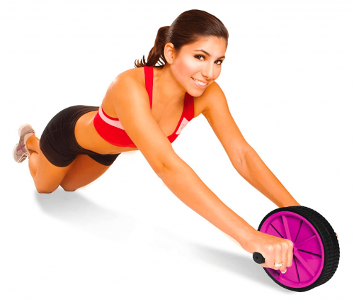 Tone Fitness Ab Roller Toning Wheel for Abs Workout display
