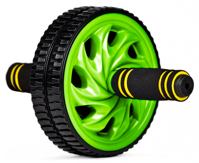 Crown Sporting Goods Ab Wheel with Dual Non-Skid Wheels