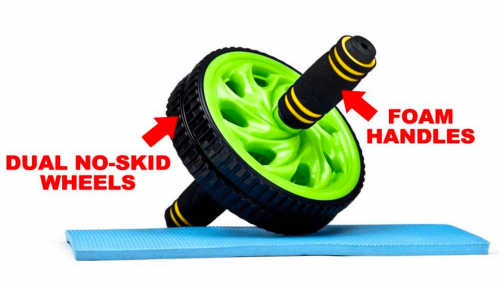 Crown Sporting Goods Ab Wheel with Dual Non-Skid Wheels 2