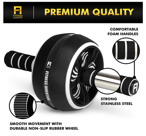 Fitness Invention Ab Roller Wheel specs