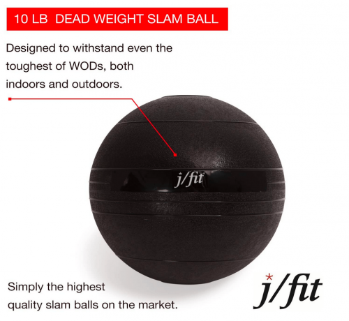 j/fit Dead Weight Slam Ball for Strength & Conditioning WODs features
