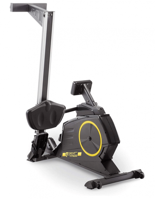 Circuit Fitness Deluxe Foldable Magnetic Rowing Machine folded