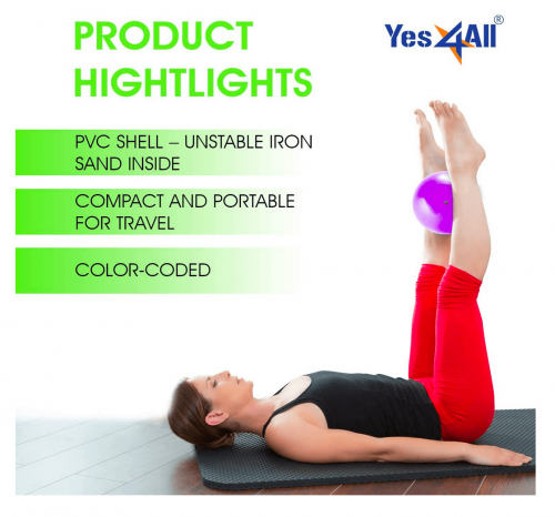 Yes4All Soft Weighted Toning Ball/Medicine Sand Ball features