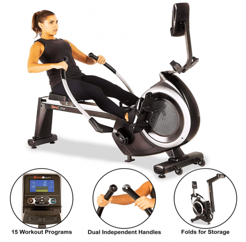 Fitness Reality 4000WR Bluetooth Water Rower Rowing Machine features