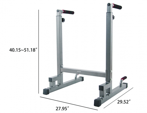 BalanceFrom Multi-Function Dip Stand Dip Station Dip bar with Improved Structure Design size