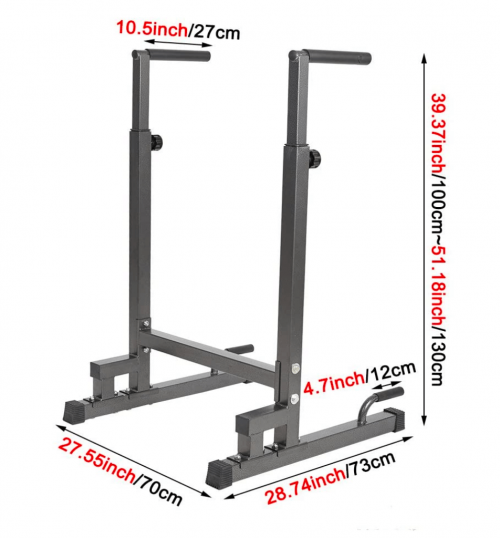 Dporticus Power Tower Workout Dip Station size
