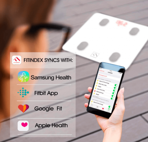 FITINDEX Bluetooth Body Fat Scale connectivity