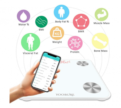 Yoobure Bluetooth Body Fat Scale features