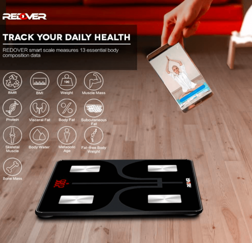 REDOVER-Bluetooth Body Fat Scale features
