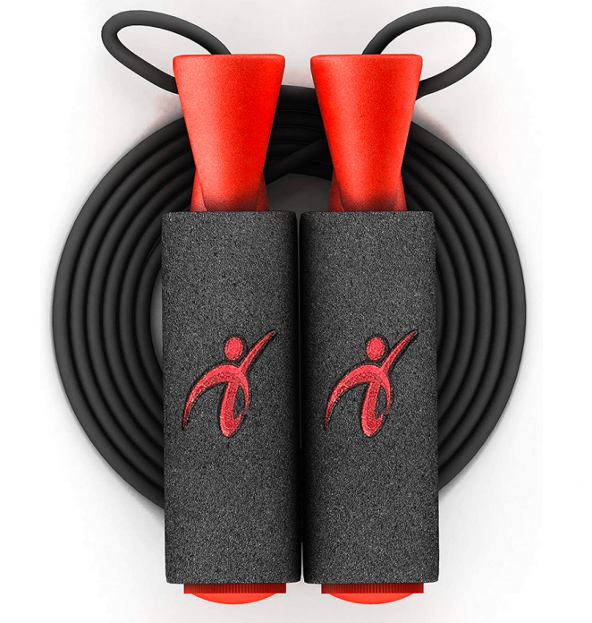 Adjustable Jump Rope with Carrying Pouch for Men and Women