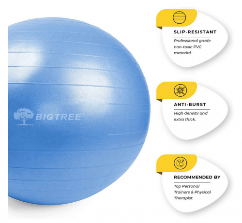 Bigtree Exercise Ball Extra Thick Yoga Ball Chair specs