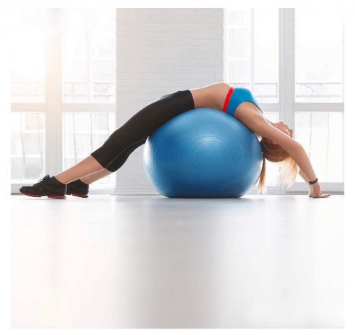 Bigtree Exercise Ball Extra Thick Yoga Ball Chair on display