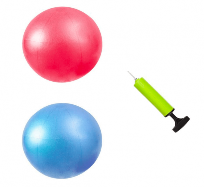 MU-MOON Mini Fitness Exercise Ball Kit with Hand Pump for Yoga
