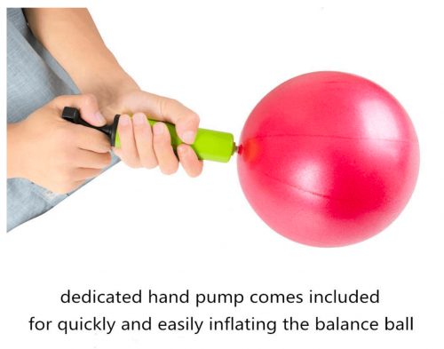 MU-MOON Mini Fitness Exercise Ball Kit with Hand Pump for Yoga detail