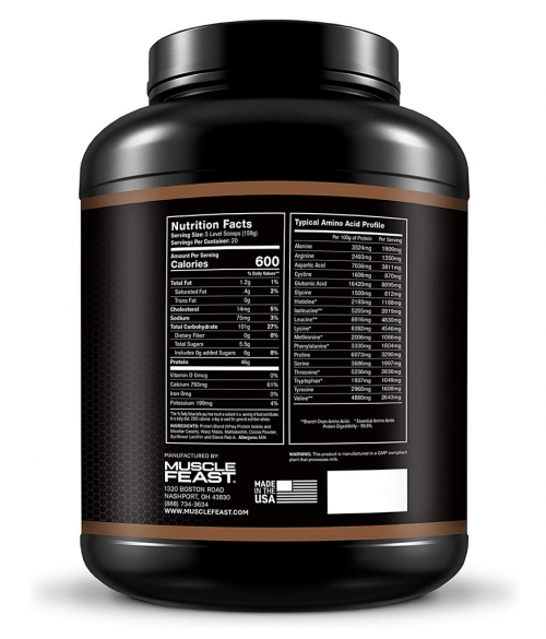 Ultimate Weight Gainer 7 Pounds nutrition facts