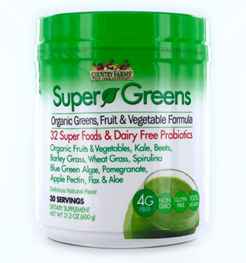 Country Farms 30 Servings Super Greens Drink Mix