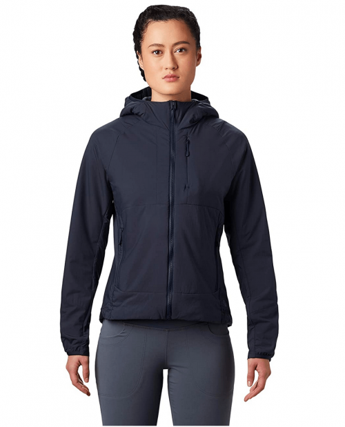 Mountain Hardwear Women's KOR Cirrus Hybrid Hoody for Multi-Pitch Climbing or Everyday Cold-Weather Wear