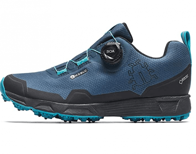 Icebug Mens Rover BUGrip GTX Trail Running Shoe with Carbide Studded Traction Sole
