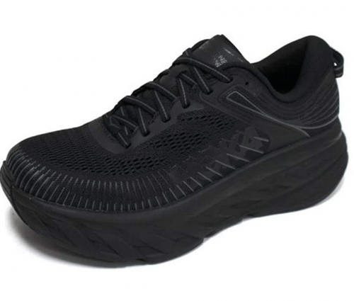 HOKA ONE ONE Men's Bondi 7 Running Shoes Black/Black 10.5 M US