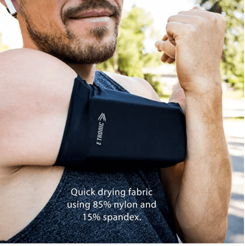 Phone Armband Sleeve: Best Running Sports Arm Band Strap Holder Pouch Case for Exercise Workout Fits iPhone 5S SE 6 6S 7 8 X Plus iPod Android Samsung Galaxy S5 S6 S7 S8 Black Medium