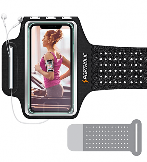 Running Arm Bands for Cell Phone, Adjustable Workout Phone Holder Arm Case for iPhone 11/11Pro Max/Xs Max/XR/X/8/7/6s Plus Sports Jogging Band for Samsung Galaxy S20/S10/S9/S8 Plus