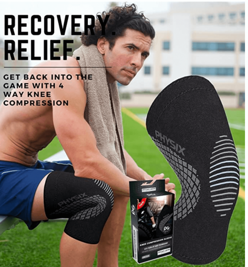 Physix Gear Knee Support Brace - Premium Recovery & Compression Sleeve for Meniscus Tear