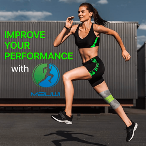 Mauwi Knee Brace - Knee Support for Men & Women - Knee Compression Sleeve for Running