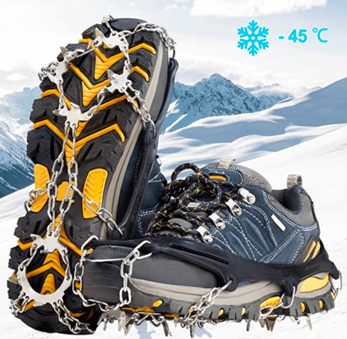 Cimkiz Crampons Ice Cleats Traction Snow Grips for Boots Shoes