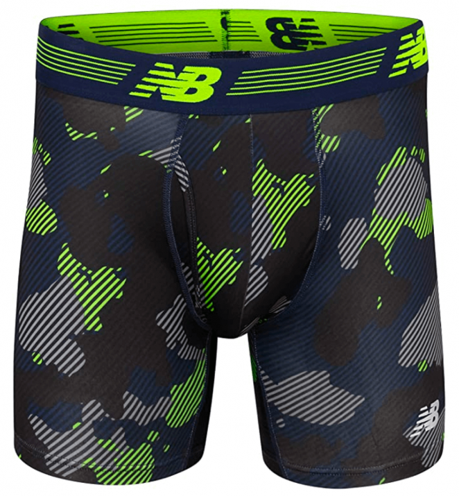 New Balance Mens Boxer Brief Fly Front with Pouch