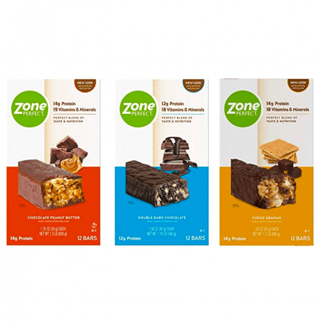 Zoneperfect Protein Bars, Variety Pack, High Protein, with Vitamins & Minerals, 36 Bars