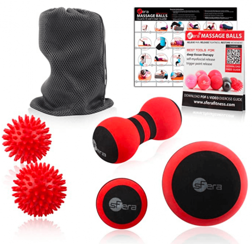 sFera Massage Ball Set of 5 for Trigger Point Therapy