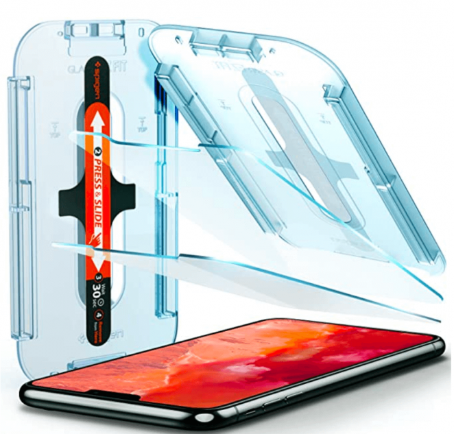 Spigen Tempered Glass Screen Protector  Glas.tR EZ Fit  designed for iPhone 11 Pro/iPhone Xs/iPhone X  5.8 inch   Case Friendly  - 2 Pack
