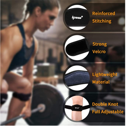 POW 2 Pack Thickened Pad & Wide Patella Knee Strap