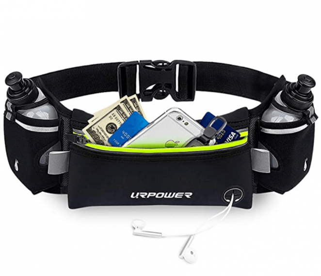 URPOWER Upgraded Running Belt with Water Bottle, Running Fanny Pack with Adjustable Straps